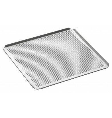 Bartscher Plaque Perforée GN 2/3 - 4 Bords à Plis Inclinés - Aluminium - 354x325x10(h)mm