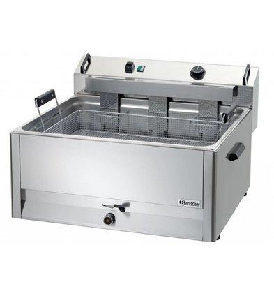Bartscher Friteuse à Beignets Électrique Inox + Vanne de Vidange - 30 Litres - 660x650x410(h)mm