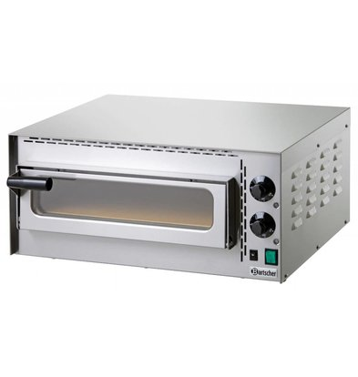 Bartscher Four à Pizza Inox Mini Plus | 230V | 1 Pizza Ø350mm | 575x525x270(h)mm