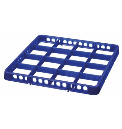 Bartscher Casier De Lavage à 16 Cases - 500x500mm - Bleu Foncé