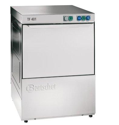 Bartscher Lave-Vaisselle 40x40cm | Doseur de Rinçage + Adoucisseur + Pompe de Vidange | 230V