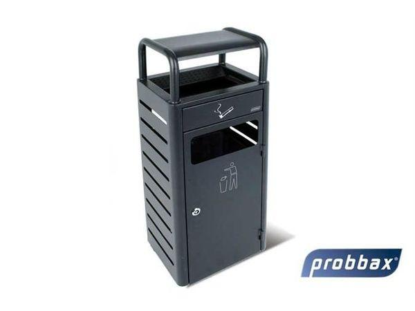 CHRselect Cendrier à Poser 2,3 Litres | Avec Poubelle 20 Litres | Noir | Jusqu'à 690 Mégots