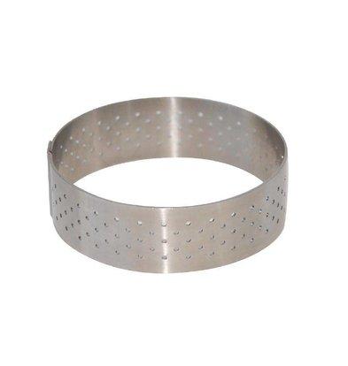 CHRselect Cercle à Tarte Inox   Perforé   Ø75x20(h)mm