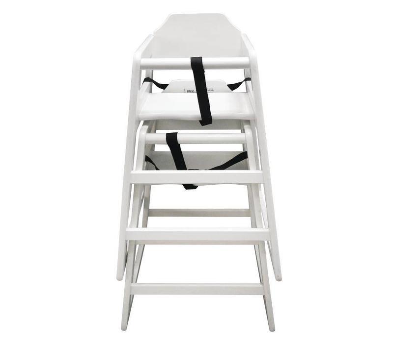 CHRselect Chaise Haute en Bois Blanche | Hauteur du Siège 500mm
