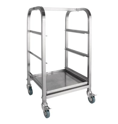 CHRselect Chariot pour Casiers Inox - Casiers 350mm - 3 Niveaux