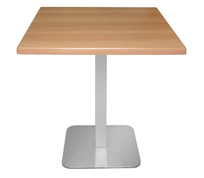 CHRselect Pied de Table Carré | Inox | 680(h)mm