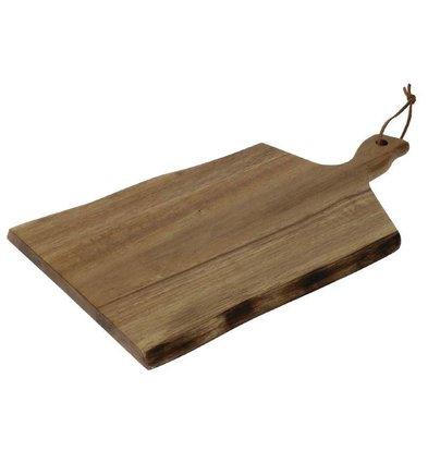 CHRselect Planche en Acacia | Bords Ondulés | 305x215mm | Poignée 75mm