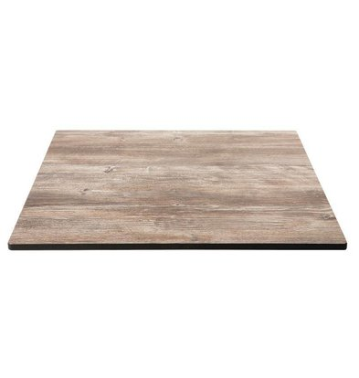 CHRselect Plateau de Table | Pin Vieilli | Compact Exterieur | 600x600mm