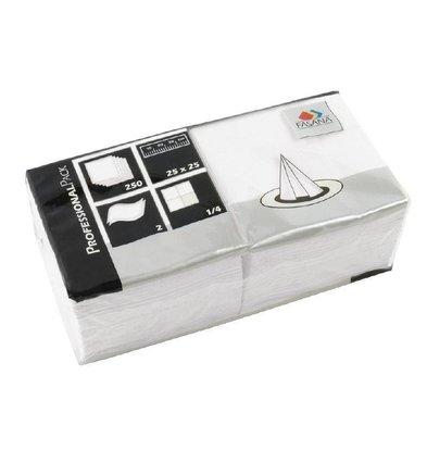 CHRselect Serviettes en Papier Blanches | 2 Plis | 250x250mm | 1500 Pièces