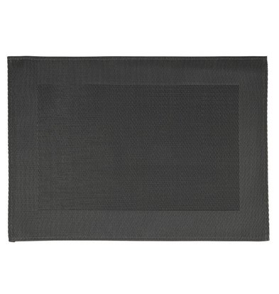 CHRselect Set de Table noir | PVC | 450x330mm | 6 Pièces