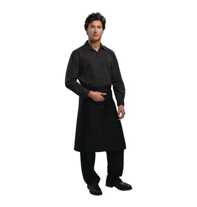 CHRselect Tablier Bistro Noir - Uniform Works - 100x70mm - Unisexe