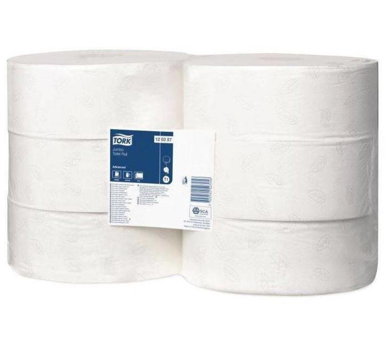 CHRselect Papier Toilette Jumbo - 2 Plis - Blanc - Lot de 6