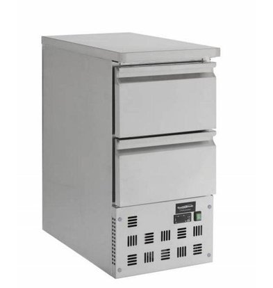Combisteel Comptoir Réfrigéré Inox | 2 Tiroirs | 440x700x870(h)mm