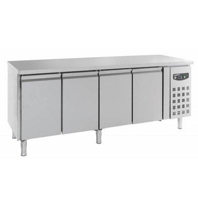 Combisteel Comptoir Réfrigéré Inox | 4 Portes | 2230x600x860(h)mm