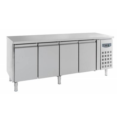 Combisteel Comptoir Réfrigéré Inox | 4 Portes | 2230x700x850(h)mm
