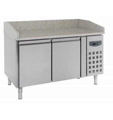 Combisteel Comptoir à Pizza Inox | 2 Portes | 1510x800x1000(h)mm