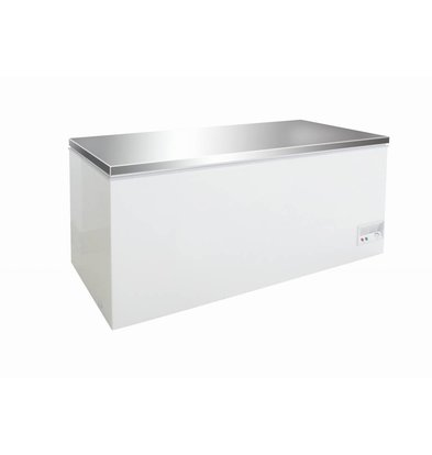 Combisteel Coffre Congelé   Couvercle Inox   526 Litres   130W   1604x675/720x860(h)mm
