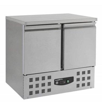 Combisteel Comptoir Congelé Inox | 2 Portes | Moteur Dessous | 950x700x855(h)mm