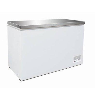 Combisteel Coffre Congelé avec Couvercle Inox   390 Litres   1330x637/680x830(h)mm
