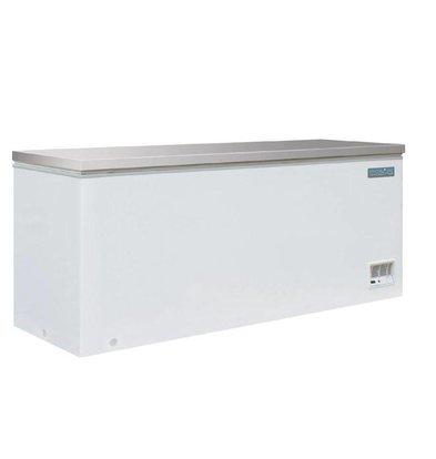 Polar Congélateur Coffre Blanc   Couvercle Inox   587 Litres   688(p)x1995(l)x845(h)mm