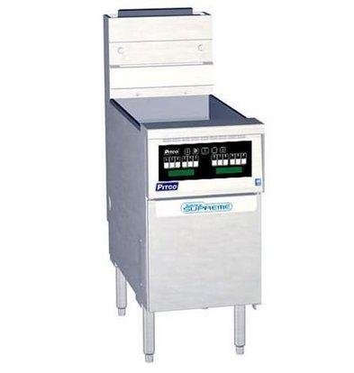 PITCO Friteuse Gaz COMPUTER | Pitco Solstice Supreme SSH55 | 23kW | Huile 23Kg | 75Kg/u | 397x875x864(h)mm