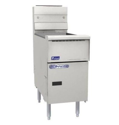 PITCO Friteuse Gaz SOLID STATE | Pitco Solstice Supreme SSH55 | 23kW | Huile 23Kg | 75Kg/u | 397x875x864(h)mm