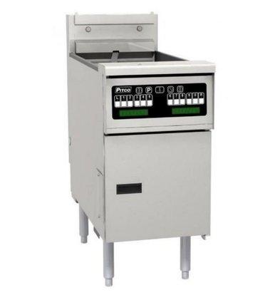 PITCO Friteuse Électrique COMPUTER | Pitco Solstice SE14T | 8,5kW | Huile 11,5kg | 75Kg/u | 397x873x864(h)mm