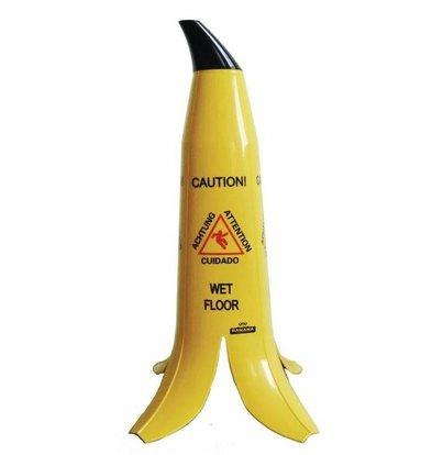 CHRselect Cône sol glissant multilingue | Banana | 60(h)cm