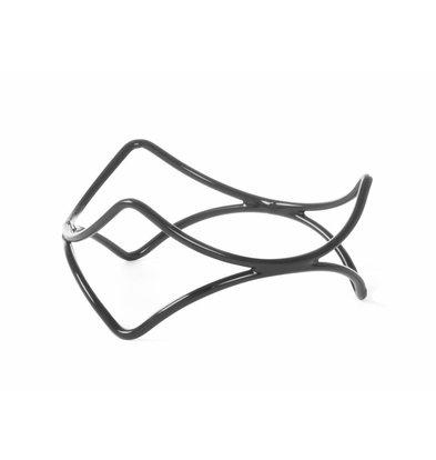 Hendi Support de Buffet Antidérapant | Acier Enrobé de PVC | Ø200x200(h)mm