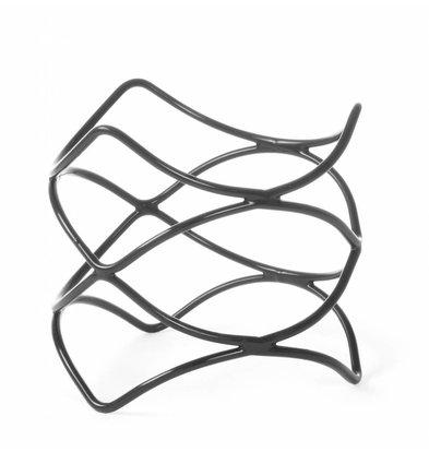 Hendi Support de Buffet Antidérapant | Acier Enrobé de PVC | Ø200x100(h)mm