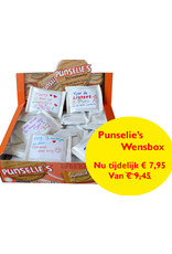 Wishbox 54 pcs packed in blanco wrap and 54 blanco stickers