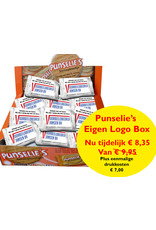 Custom Logo Box 54 pcs Punselie's Crispy biscuits packed in blanco wrap  and 54 custom stickers