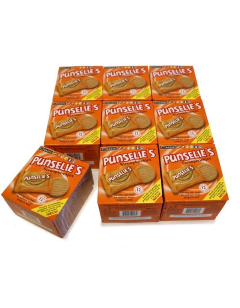 9 doosjes met 12 per stuk verpakte Punseliekoeken
