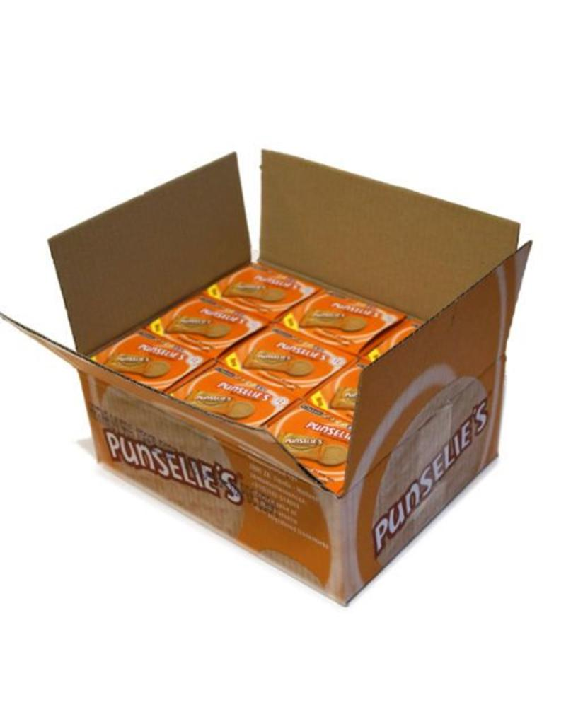 9 boxes with each 12 individual wrapped Punselie's Crispy biscuits