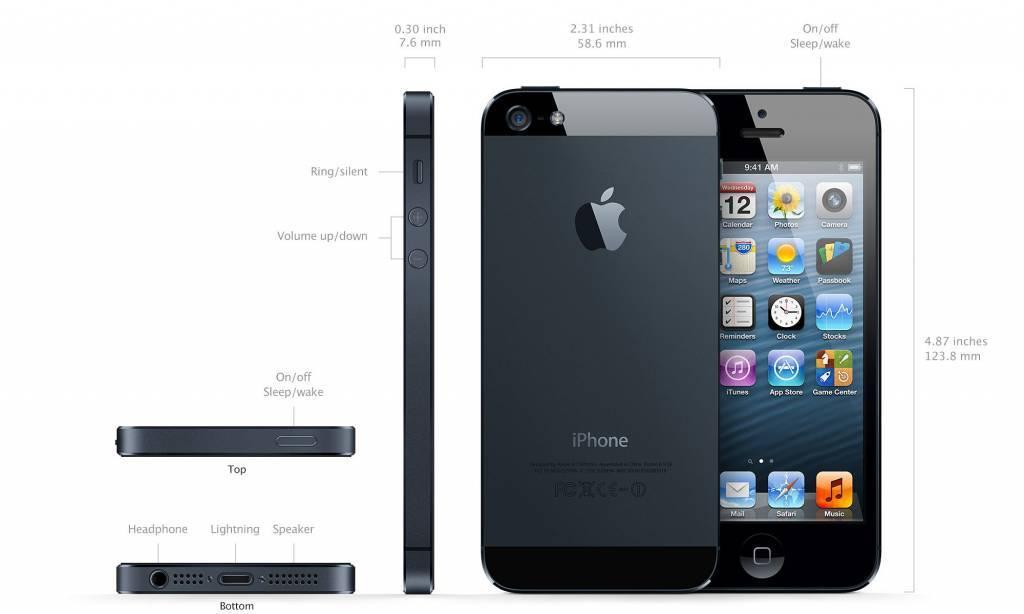 Apple Refurbished iPhone 5S Zwart 32GB