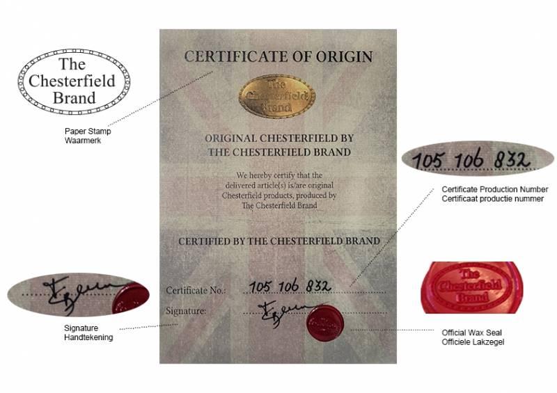Chesterfield eenzits Vintage Bruin