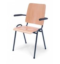 Multi Meubel Zaal- Kerkstoel Time Out MET armleggers Blank Beuken - Zaalstoelen en kerkstoelen