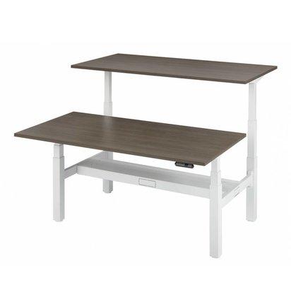 HUISLIJN DUO werkplek Elektrisch verstelbaar 64-130 cm - Elektrisch verstelbare bureaus