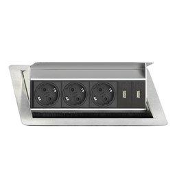 EVOLINE Evoline Inbouw Flip Top 3x Stroom + 2x USB Charge - Producten getagd met evoline flip top inbouw blad