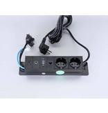 Götessons Götessons Powerinlay 2 x stroom + 2 x USB Charger + 2 x data
