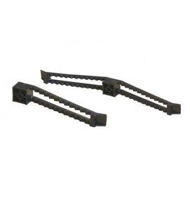 Multi Meubel Kabelklem enkel 76 mm Zwart en Lichtgrijs - Stekkerdozen en Snoeren