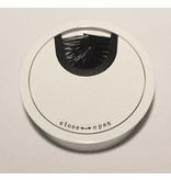 Multi Meubel Kabeldoorvoer metaal Ø 60mm wit gelakt