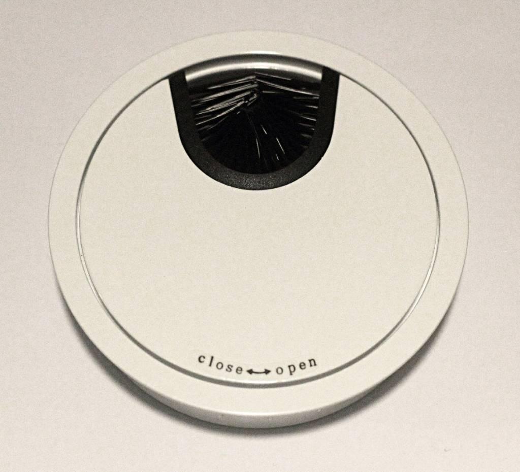 Multi Meubel Kabeldoorvoer metaal Ø 80mm wit gelakt