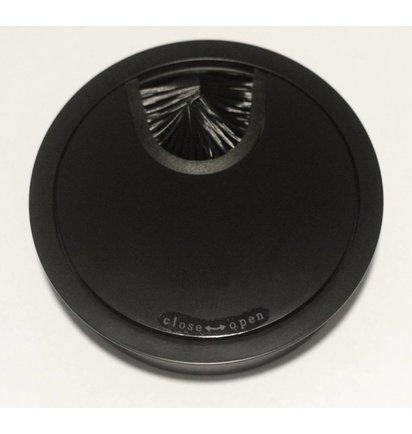 Multi Meubel Kabeldoorvoer metaal Ø 80mm MAT Zwart - Metalen kabeldoorvoerdoppen