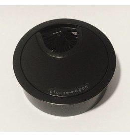 Multi Meubel Kabeldoorvoer metaal Ø 60mm MAT Zwart