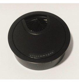 Multi Meubel Kabeldoorvoer metaal Ø 60mm MAT Zwart. Open/Close - Multi Meubel