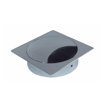 Multi Meubel Kabeldoorvoer metaal vierkant GLANSCHROOM - Metalen kabeldoorvoerdoppen