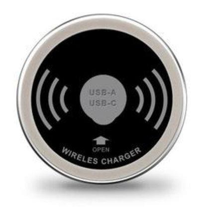 Multi Meubel Draadloze oplader inclusief USB-A en USB-C charger - Kunststof kabeldoorvoerdoppen