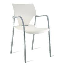 Multi Meubel IOKO stoel MET Armleggers WIT VOORRAAD - Zaalstoelen en kerkstoelen kopen