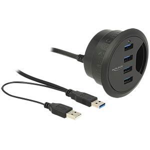 Multi Meubel Delock Desk-Hub 4 Port USB 3.0